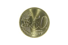 Fifty euro cent Royalty Free Stock Photo