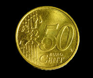 Fifty euro cent coin Royalty Free Stock Photography