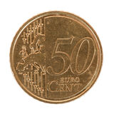 Fifty euro cent coin Stock Image