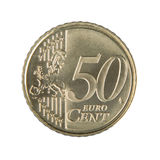 Fifty Euro Cent Coin. Close-up of an uncirculated fifty Euro cent coin Royalty Free Stock Photo