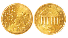 Free Fifty Euro Cent Coins Stock Images - 12558944