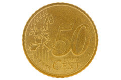 Fifty euro cents coin Stock Photography