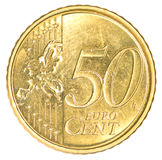 Fifty euro cents coin