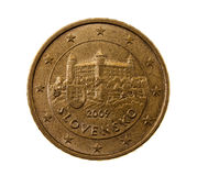 Fifty euro cents Stock Photo