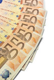 Fifty euro fan Stock Photography
