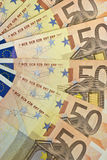 Fifty euro fan. Fifty euro notes in fan formation Stock Images