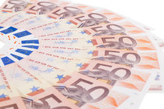 Fifty euro fan Stock Images