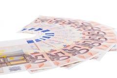 Fifty euro fan Royalty Free Stock Photo