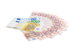 Fifty euro fan Royalty Free Stock Photos