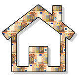 Fifty euro. A  illustration with fifty euro banknote Royalty Free Stock Photography