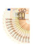 Fifty Euro Money Fan Royalty Free Stock Photography