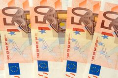 Fifty euro nominal banknotes Stock Photography