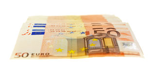 Fifty Euro Notes Stock Image