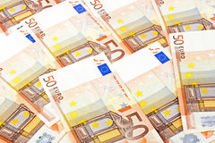 Fifty euro notes Stock Photography