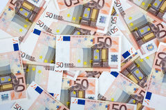 Fifty euro paper bills Royalty Free Stock Image