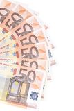 Fifty euro pile as ban Royalty Free Stock Photography