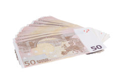 Fifty euro pile Royalty Free Stock Image