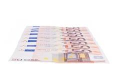 Fifty euro row Royalty Free Stock Image