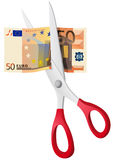 Fifty euro. A vector illustration with fifty euro banknote Stock Photo