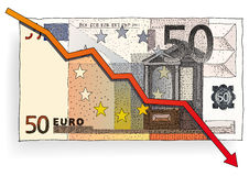 Fifty euro. A vector illustration with fifty euro banknote Stock Photos