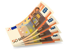 Fifty euro. Vector illustration with drawing money from fifty euro Royalty Free Stock Images