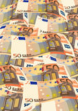 Fifty euro. Vector illustration with drawing money from fifty euro Stock Photography