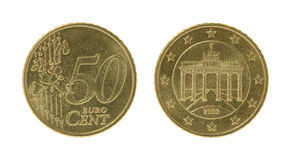 Fifty Eurocents Coins Stock Images