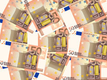 Fifty euros background Stock Photo
