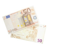 Fifty euros bank note Royalty Free Stock Images
