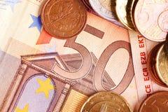 Fifty Euros - Euro Money Stock Image