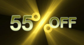 55 percentage off discount sale banner Royalty Free Stock Photo