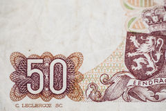 Fifty francs denomination Stock Photography