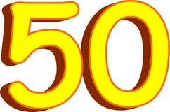 fifty number Στοκ Φωτογραφίες