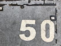 Fifty Number Sign stock images