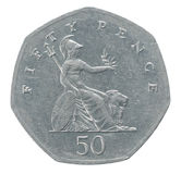 Fifty pence Royalty Free Stock Photography