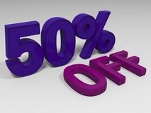 Fifty percent. Blue fifty percent on a gray background Royalty Free Stock Images