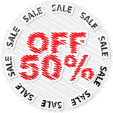 Fifty percent discount Stock Photo