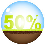 Fifty percent discount. Background vector illustration Royalty Free Stock Image