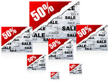 Fifty percent discount background Royalty Free Stock Image