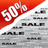 Fifty percent discount and sale poster Royalty Free Stock Photos