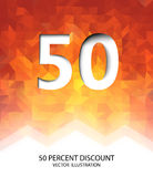 Fifty Percent Discount Vector Illustration Royalty Free Stock Image