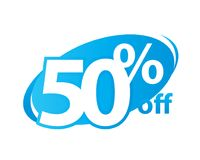 Fifty percent off Royalty Free Stock Photo