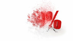 Fifty Percent Off (50%off). red percentage symbol. big discounts stock video footage