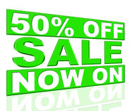 Fifty Percent Off Shows At The Moment And Closeout Royalty Free Stock Photography