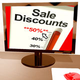 Fifty Percent Sale Discounts Stock Photos