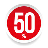 Fifty percent sale sticker. Vector Stock Images