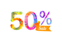 50 fifty percents sale Stock Images