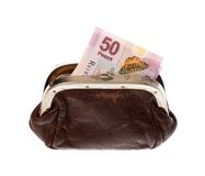 Fifty pesos in  purse Royalty Free Stock Photos