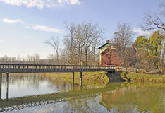 Fifty Point Conservation area, footbridge Stock Image