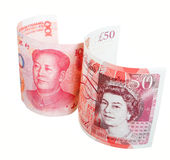 British ponds and Chinese yuan Stock Photos